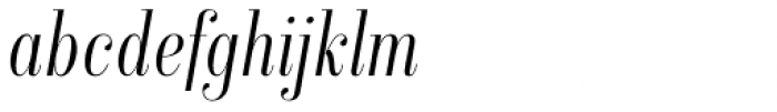 Isabel Condensed Thin Italic Font LOWERCASE