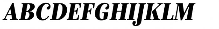 Isabel SemiCondensed Black Italic Font UPPERCASE