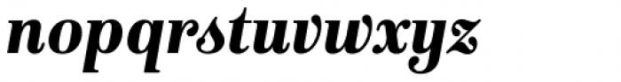 Isabel SemiCondensed Black Italic Font LOWERCASE