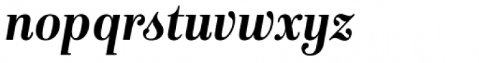 Isabel SemiCondensed Bold Italic Font LOWERCASE