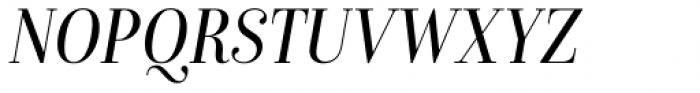 Isabel SemiCondensed Light Italic Font UPPERCASE