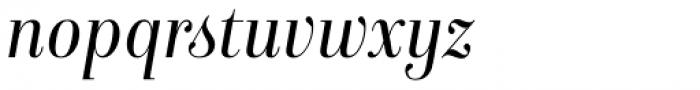 Isabel SemiCondensed Light Italic Font LOWERCASE