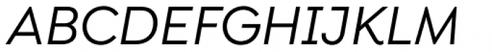 Isidora Sans Alt Medium Italic Font UPPERCASE