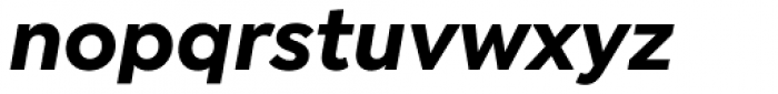 Isidora Sans Bold Italic Font LOWERCASE