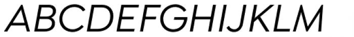 Isidora Sans Medium Italic Font UPPERCASE