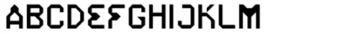 Iso Opto Filled Font UPPERCASE