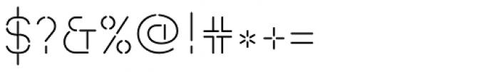 Isometrik ExtraLight Font OTHER CHARS
