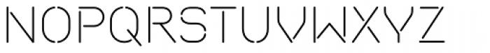 Isometrik ExtraLight Font UPPERCASE