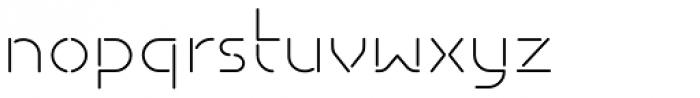 Isometrik ExtraLight Font LOWERCASE