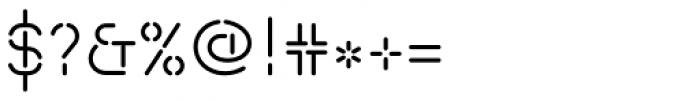 Isometrik Light Font OTHER CHARS