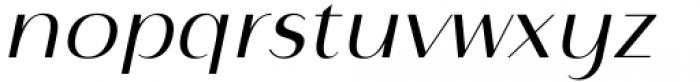 Istanbul Type 300 Light Italic Font LOWERCASE