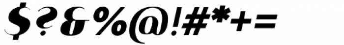 Istanbul Type 900 Bold Italic Font OTHER CHARS