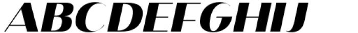 Istanbul Type 900 Bold Italic Font UPPERCASE