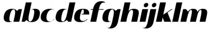 Istanbul Type 900 Bold Italic Font LOWERCASE