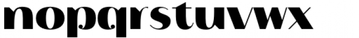 Istanbul Type 900 Bold Font LOWERCASE