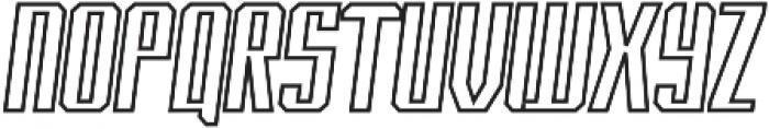 Italic-Outline otf (400) Font UPPERCASE