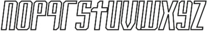 Italic-Outline otf (400) Font LOWERCASE