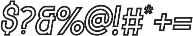 Italic_Outline_11 otf (400) Font OTHER CHARS