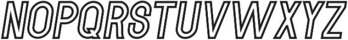 Italic_Outline_11 otf (400) Font LOWERCASE