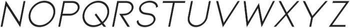 Itallic ttf (400) Font UPPERCASE