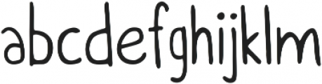 Itchy Handwriting ttf (400) Font LOWERCASE
