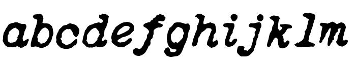 ITALIC TYPEWRITER Font LOWERCASE