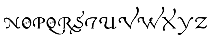Italian Cursive, 16th Century Font UPPERCASE