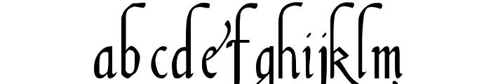 Italian Cursive, 16th Century Font LOWERCASE