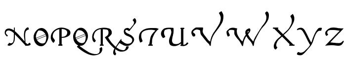 Italian Cursive 16th c Font UPPERCASE