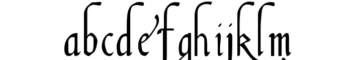 Italian Cursive 16th c Font LOWERCASE