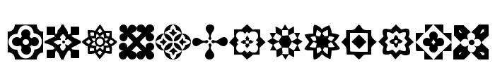 Italian Mosaic Ornaments Font LOWERCASE