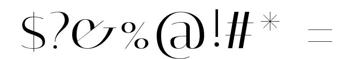 Italiana Font OTHER CHARS