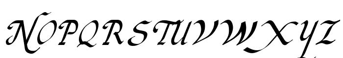 Italic Hand Medium Font UPPERCASE