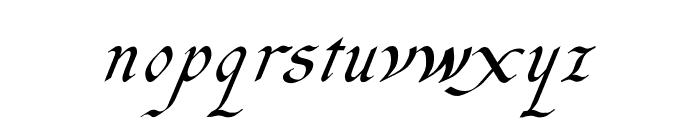 Italic Hand Medium Font LOWERCASE
