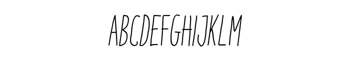 ItaloLightItalic Font UPPERCASE