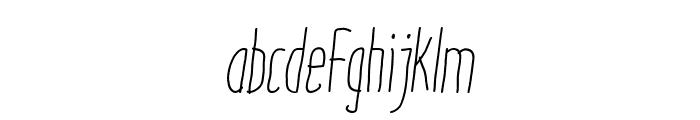 ItaloLightItalic Font LOWERCASE