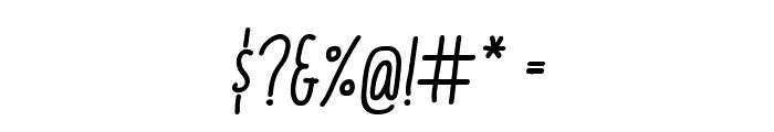 ItaloMediumItalic Font OTHER CHARS