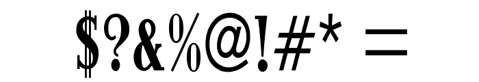 ItingOpti-BoldCondensed Font OTHER CHARS
