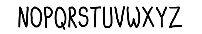Itty Bitty Notebook Font UPPERCASE