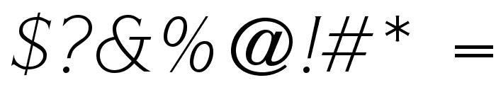 ITCSymbolStd-BookItalic Font OTHER CHARS