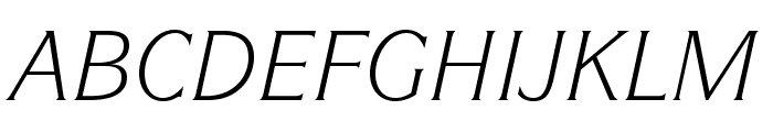 ITCSymbolStd-BookItalic Font UPPERCASE