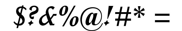 ItalianOldStyleMTStd-BoldIt Font OTHER CHARS