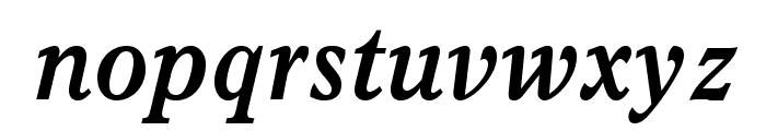 ItalianOldStyleMTStd-BoldIt Font LOWERCASE