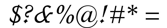ItalianOldStyleMTStd-Italic Font OTHER CHARS