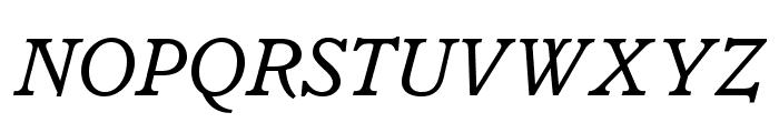 ItalianOldStyleMTStd-Italic Font UPPERCASE