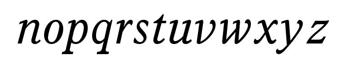 ItalianOldStyleMTStd-Italic Font LOWERCASE