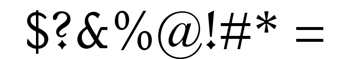 ItalianOldStyleMTStd Font OTHER CHARS