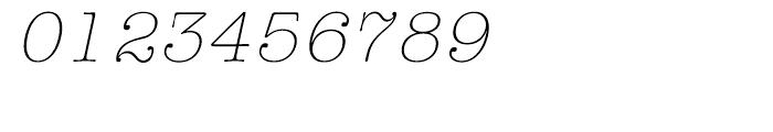 ITC American Typewriter Hellenic Light Italic Font OTHER CHARS