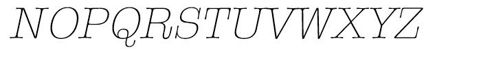 ITC American Typewriter Hellenic Light Italic Font UPPERCASE