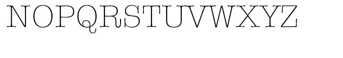 ITC American Typewriter Hellenic Light Font UPPERCASE